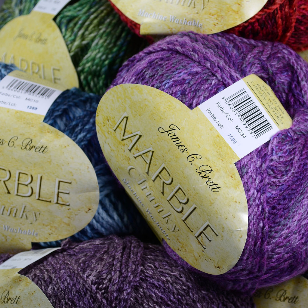 Knitting Patterns For Marble Chunky Wool : Buy James C Brett Marble Chunky Yarn Online at Athenbys UK