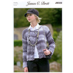 Ladies Cardigan JB022 Knitting Pattern James C Brett Marble Chunky