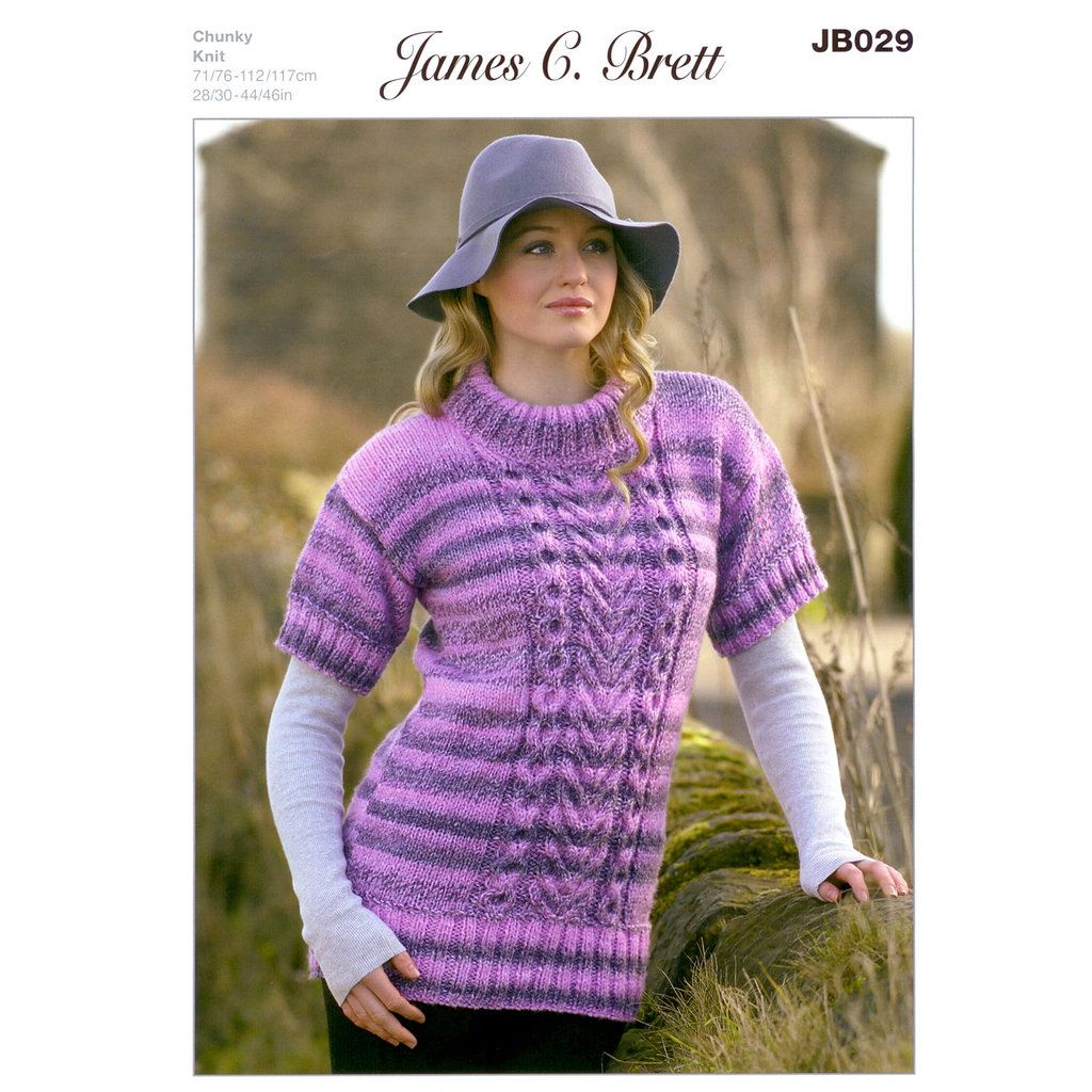 Buy Ladies Sweater JB029 Knitting Pattern James C Brett Chunky