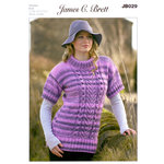 Ladies Sweater JB029 Knitting Pattern James C Brett Marble Chunky