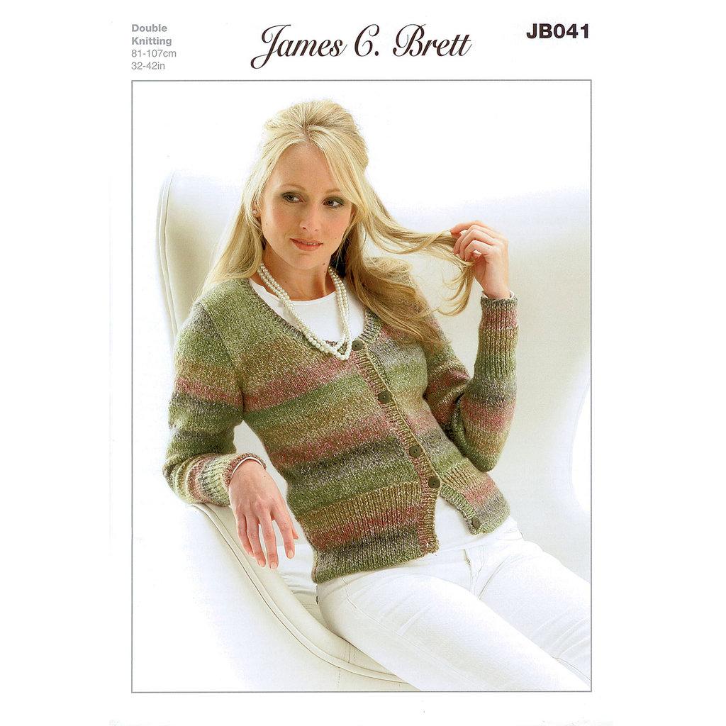 Free Knitting Pattern Ladies Cardigan Dk : Buy Ladies Cardigan JB041 Knitting Pattern James C Brett DK