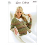 Ladies Cardigan JB041 Knitting Pattern James C Brett Marble DK