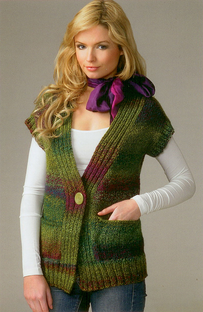 Buy Ladies Waistcoat JB070 Knitting Pattern James C Brett Chunky