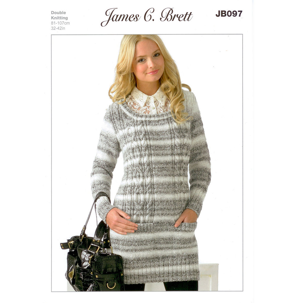 Knitting Pattern Jumper Ladies : Buy Ladies Jumper JB097 Knitting Pattern James C Brett DK