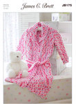 Dressing Gown JB175 Knitting Pattern James C Brett Flutterby Chunky