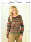 Ladies Round Necked Shaped Sweater JB162 Knitting Pattern
