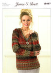 Ladies Cabled V Neck Sweaters JB187 Knitting Pattern