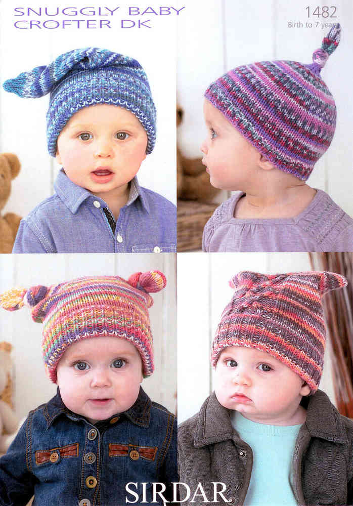 Sirdar Snuggly Baby Crofter DK 1482 Knitting Pattern Hats on Sale
