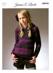 James C Brett JB049 Knitting Pattern Hooded Sweater