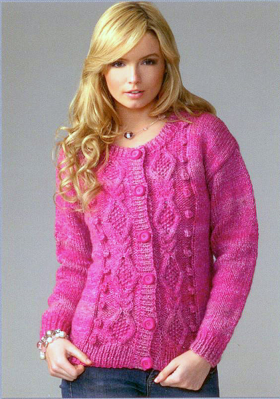 James C Brett JB072 Knitting Pattern Ladies Cardigan UK