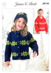 James C Brett JB192 DK Knitting Pattern Jacket Sweater Hat