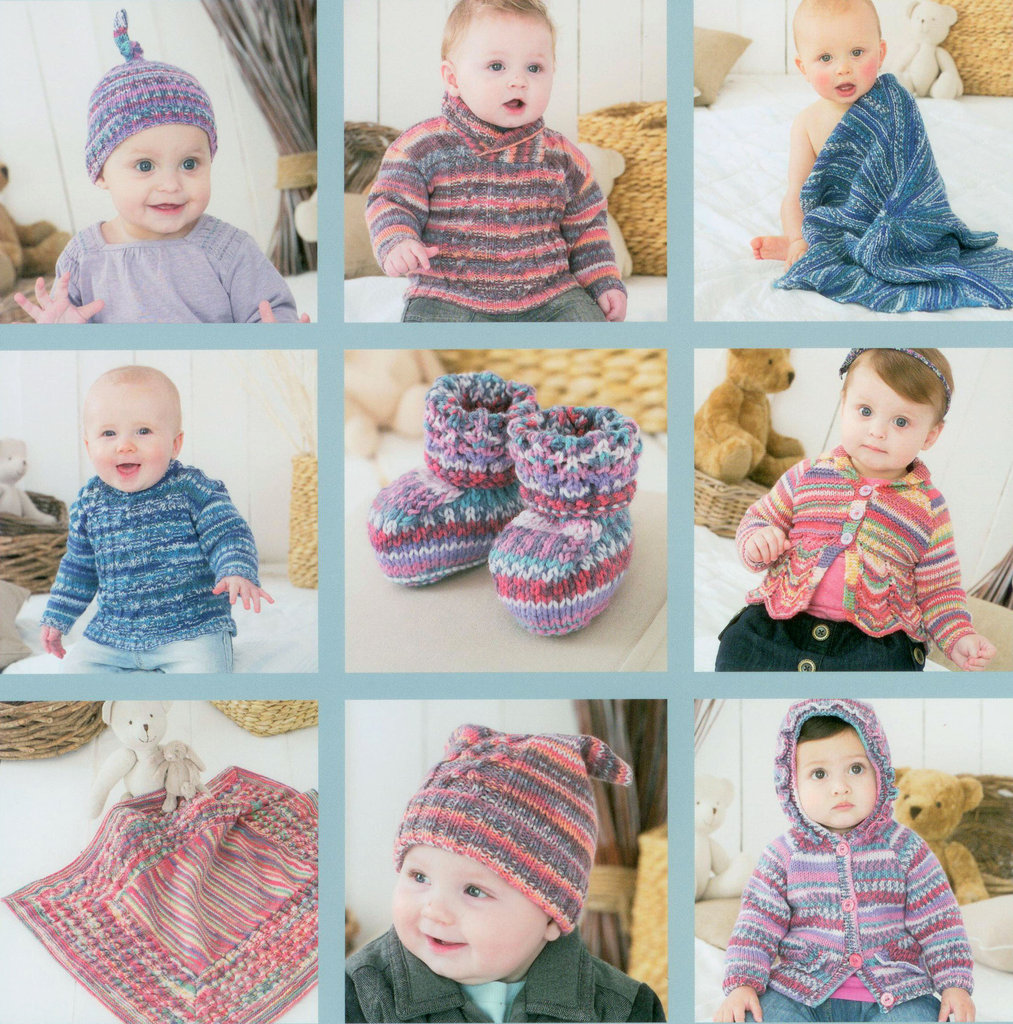 Sirdar Snuggly Baby Crofter 7 Pattern Book 445 Uk