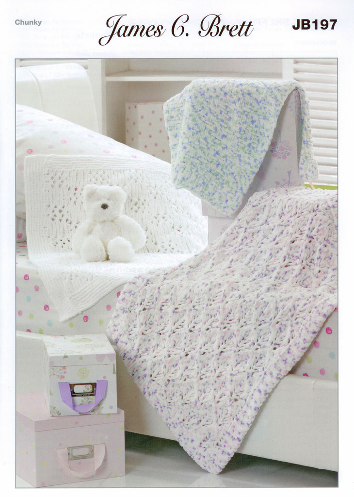 Buy Blankets Jb197 Knitting Pattern James C Brett Flutterby