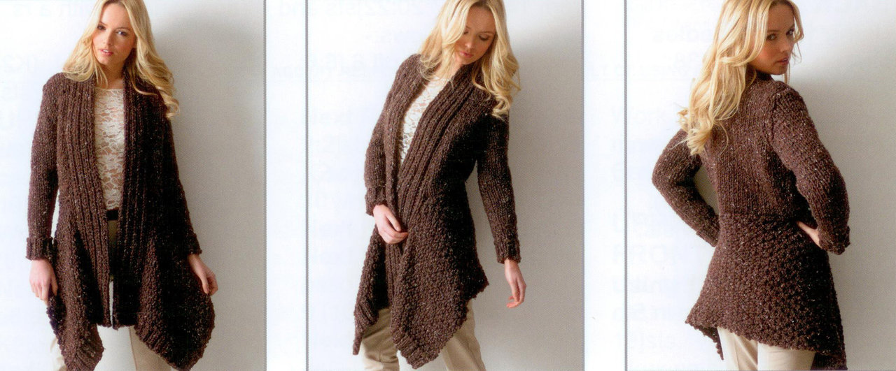 Knitting Patterns For Jackets Chunky : Buy Ladies Jacket JB112 Knitting Pattern Rustic Mega Chunky