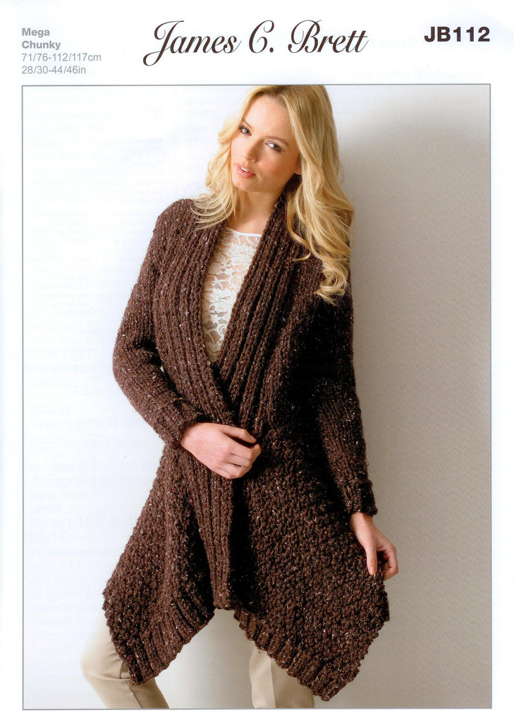 Knitting Pattern For Jacket For Ladies : Buy Ladies Jacket JB112 Knitting Pattern Rustic Mega Chunky