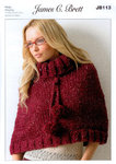Ladies Poncho JB113 Knitting Pattern Rustic Mega Chunky