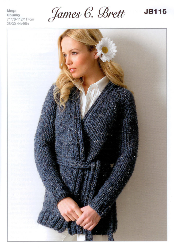 Buy Ladies Jacket JB116 Knitting Pattern Rustic Mega Chunky