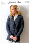Ladies Jacket JB116 Knitting Pattern Rustic Mega Chunky