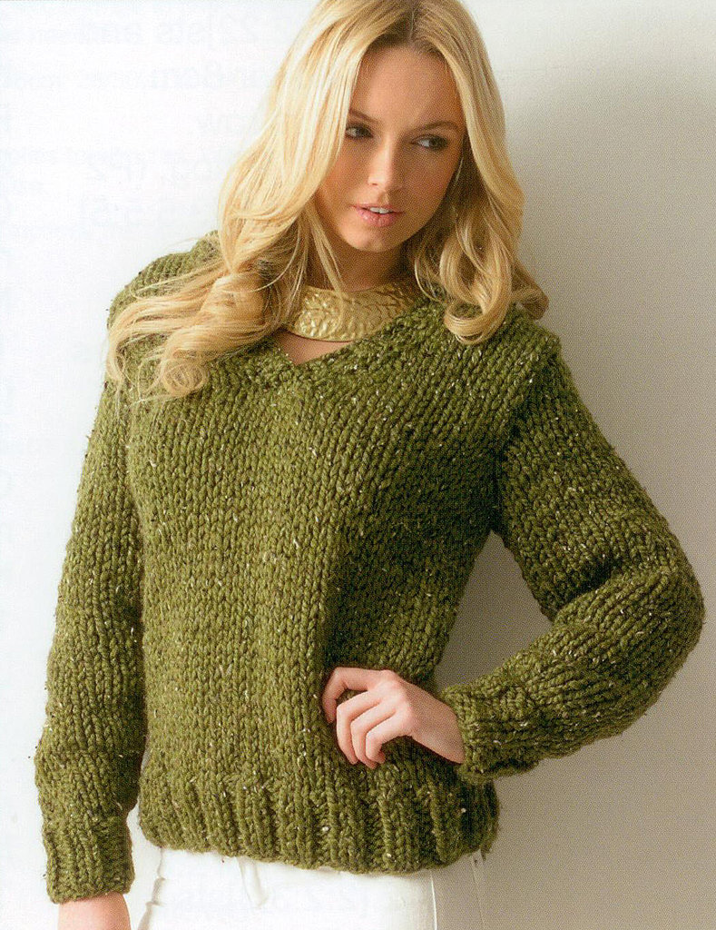 Chunky Knit Jumper Pattern : chunky knitting pattern