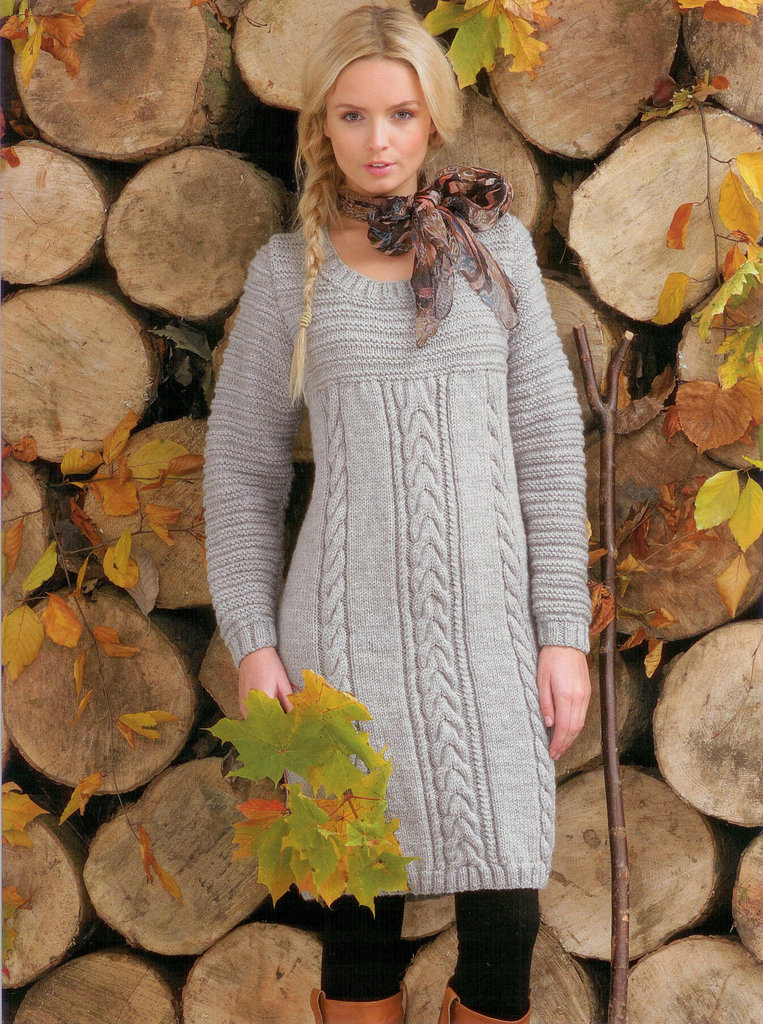 Aran Jumper Dress Knitting Pattern : Buy Ladies Sweater Dress JB100 Knitting Pattern Rustic Aran