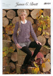 Ladies Cardigan JB101 Knitting Pattern Rustic Aran