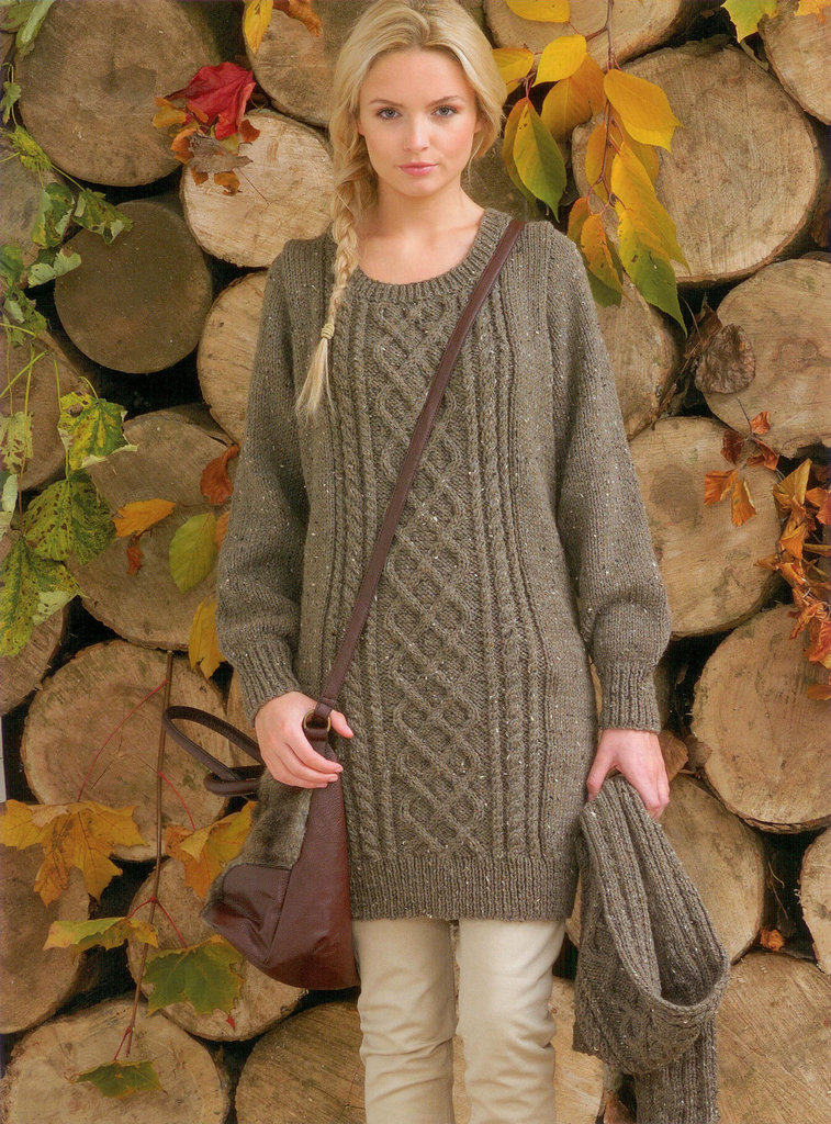 Owl Jumper Knitting Pattern : Buy Ladies Sweater and Scarf JB103 Knitting Pattern Rustic Aran