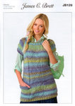 Ladies Tunic JB128 Knitting Pattern Marble Chunky