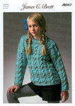 James C Brett JB047 Knitting Pattern Girls Sweater