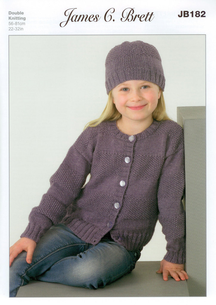 Buy James C Brett Jb182 Knitting Pattern Girls Cardigans And Hats