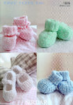 Sirdar Snuggly Tiny Tots DK 1826 Knitting Pattern Bootees and Shoes