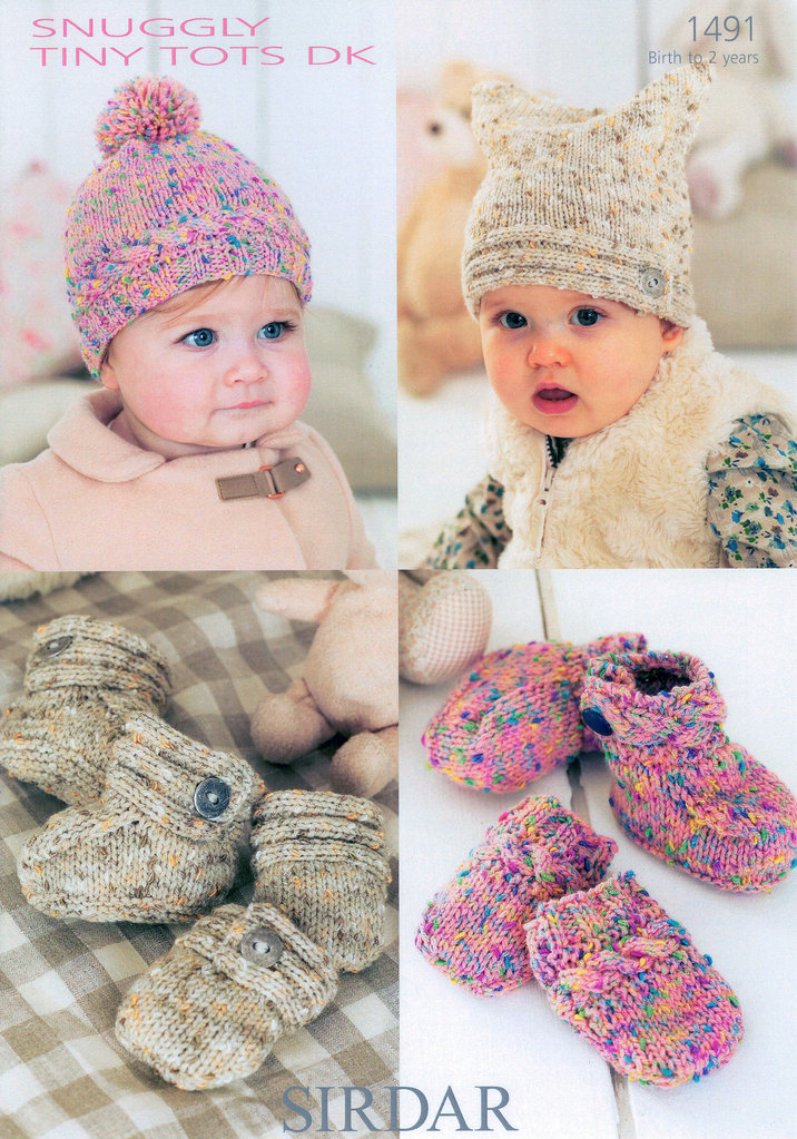 Sirdar Snuggly Tiny Tots Dk 1491 Knitting Pattern Accessories
