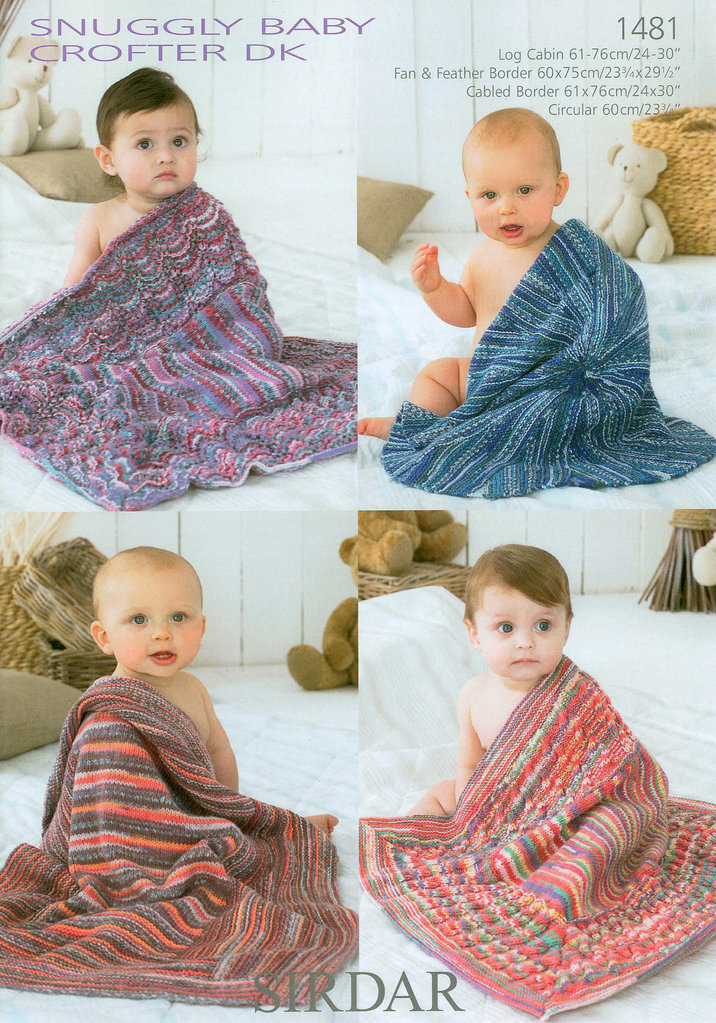 Sirdar Knitting Patterns For Children : Sirdar Snuggly Baby Crofter DK 1481 Blankets on Sale
