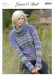 Ladies Sweater JB024 Knitting Pattern Marble Chunky