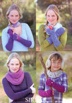 Gloves and Snood in Sirdar Click DK 9858 Knitting Pattern