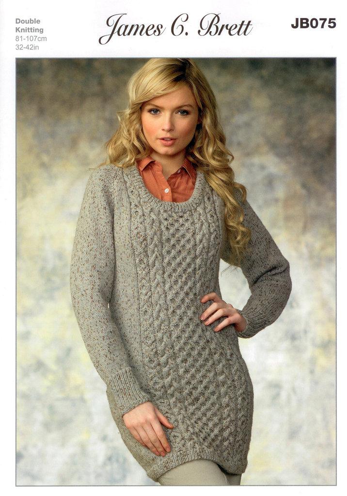 Ladies Sweater Jb075 Knitting Pattern James C Brett On Sale