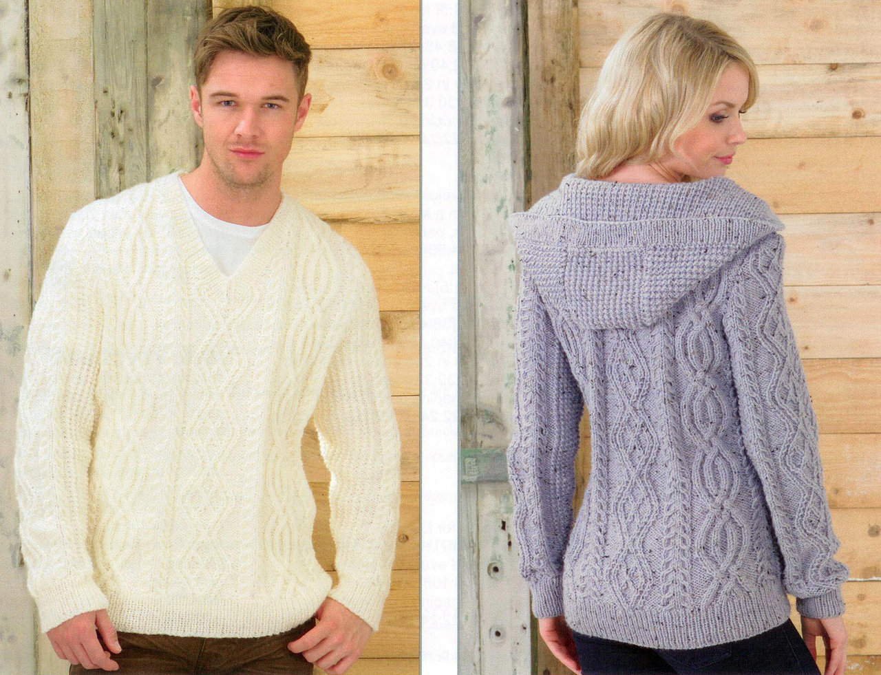 Knitting Jumper Pattern : Jb knitting pattern james c brett aran sale