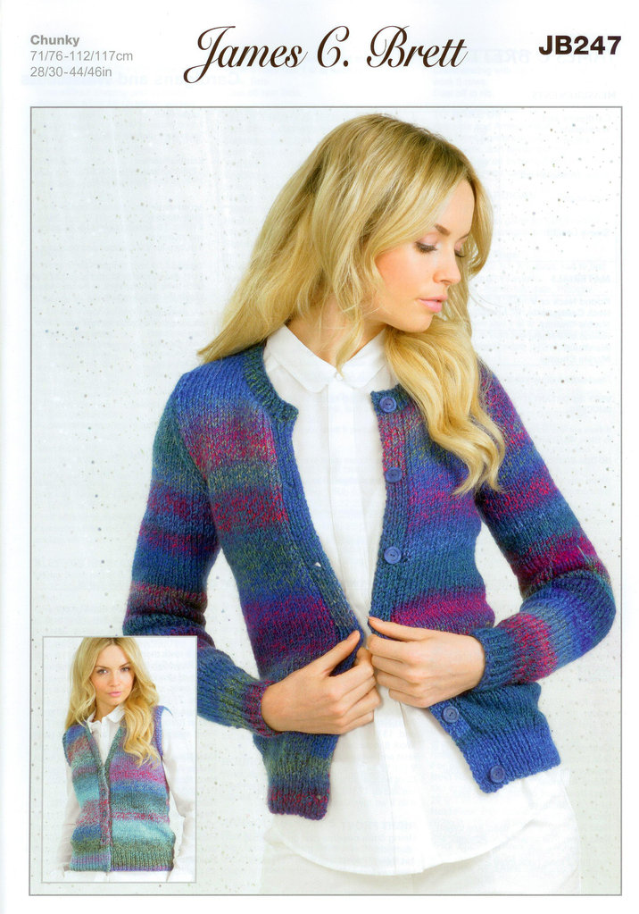 Buy Ladies Cardigans And Waistcoats Jb247 Knitting Pattern