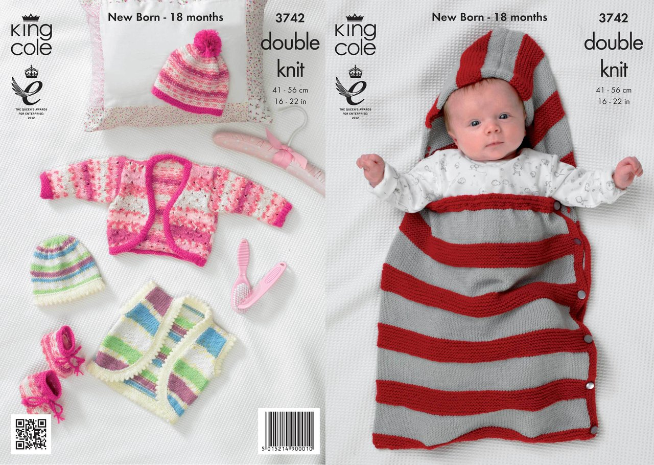 King Cole 3742 Knitting Pattern Boleros, Snuggle Bag, Hat ...