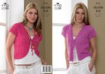 King Cole 3111 Knitting Pattern Womens Bolero & Cardigan in King Cole Smooth DK