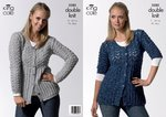 King Cole 3280 Knitting Pattern Womens Short and Long Sleeved Cardigans in King Cole Moods DK