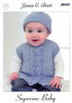 Cardigan Waistcoat Hat and Mittens JB082 James C Brett Knitting Pattern