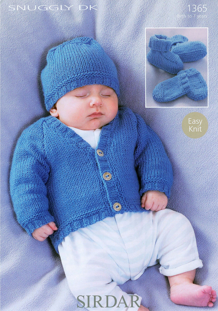 Buy Cardigan Hat Bootees Amp Mittens In Sirdar Snuggly Dk 1365