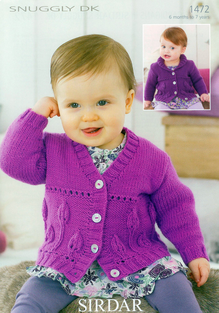 Knitting Pattern Cardigan Girl : Buy Girls Cardigans in Sirdar Snuggly DK 1472