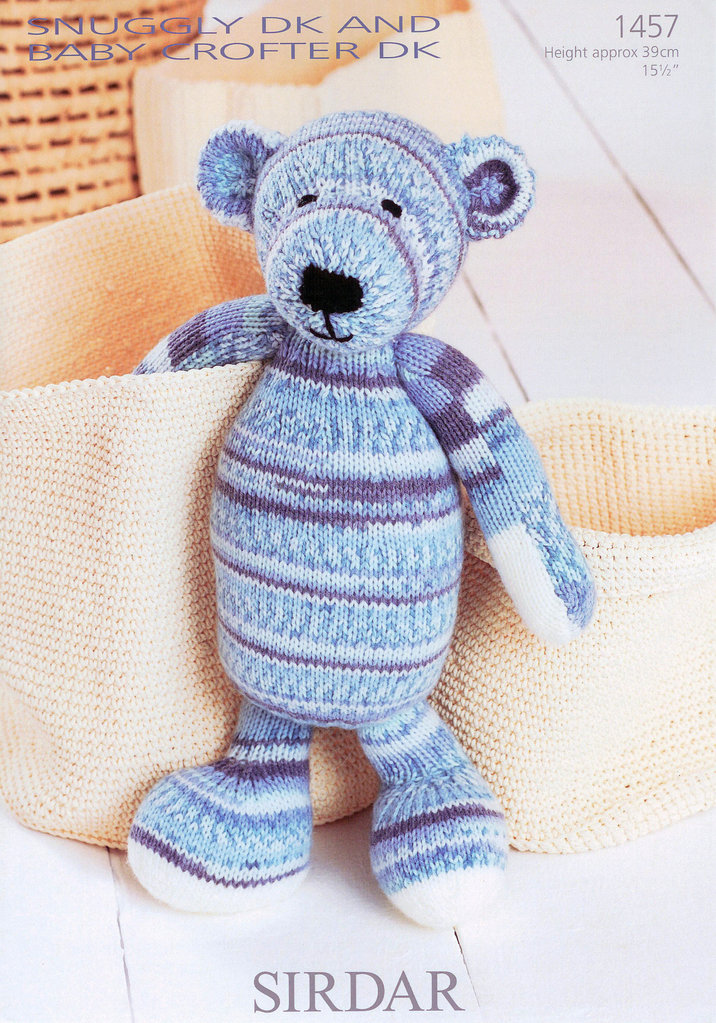 Sirdar Knitting Patterns For Children : Buy Bear in Sirdar Snuggly DK and Baby Crofter DK 1457