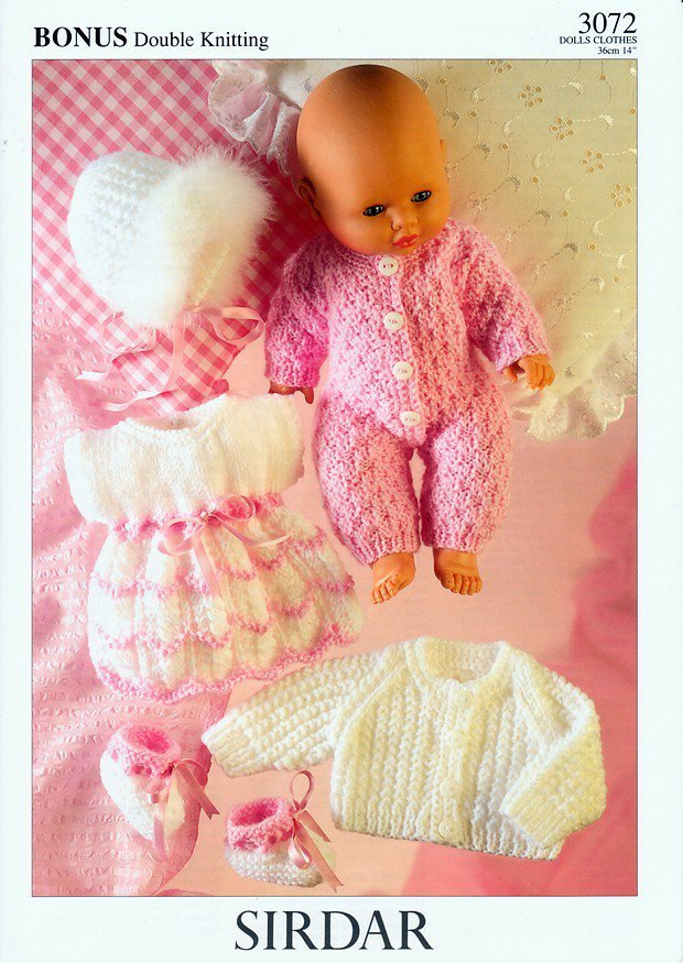 Sirdar Toy Knitting Patterns : Sirdar 3072 Knitting Pattern Doll Clothes in Sirdar Baby Bonus DK