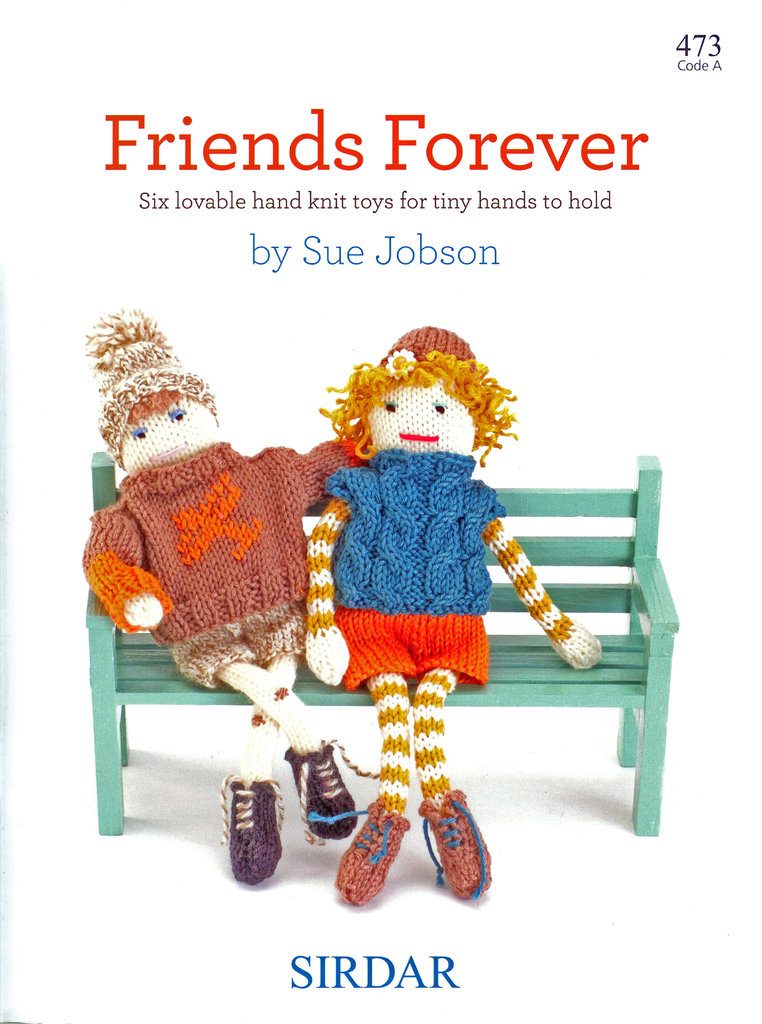 Sirdar Forever Friends 473 Knitting Pattern Book Hand Knit Toys