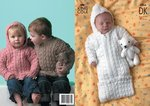 King Cole 2766 Knitting Pattern Sweater, Jacket & Sleeping Bag in King Cole DK