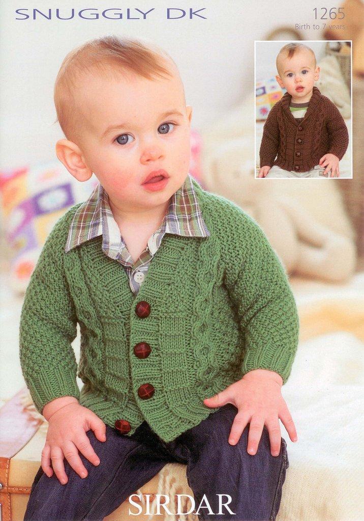 5d55086d57f7 Boys Cardigan in Sirdar Snuggly DK 1265 Knitting Pattern