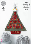 King Cole 8001 Knitting Pattern Christmas Advent Tree and Angels