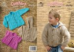 King Cole 3181 Knitting Pattern Childrens Jackets